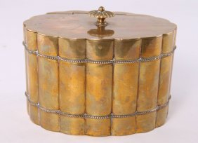 Brass Tea Caddy, Circa Early To Mid 1900's. Unknown