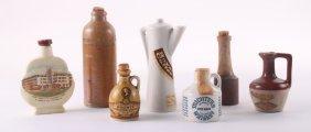 Seven (7) Variety Of Antique/vintage Miniature Liquor