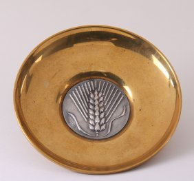 Ilias Lalaounis, Brass Inset With Sterling Silver Meda