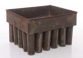 Antique Tin Candle Mold For Thirty Candles Per Batch In