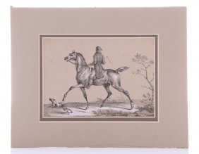 Emile Vernet, (1789-1863) Hand Colored Lithograph Ca185