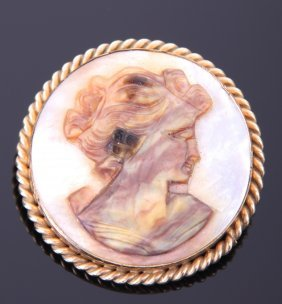Vintage Mother Of Pearl 12k Gold Filled Alice Caviness
