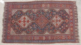 Antique Persian Shirvan Or Kazak Rug, 19 Century