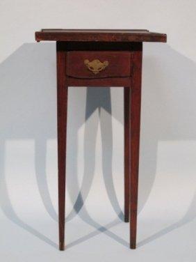 Early 19 Century American Poplar & Pine Tea Table