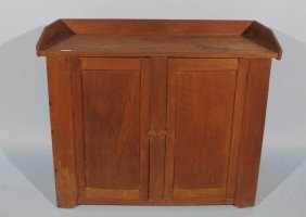 Antique Pine & Soft Wood Washstand Cabinet