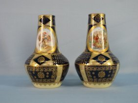 Pair Royal Vienna Austrian Vases, Circa 1900