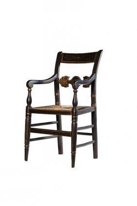 Black Painted Federal Child�s Arm Chair