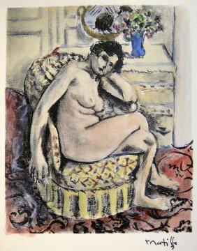 "Henri MATISSE; Hand Colored Original Lithograph; ""N"