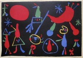 JOAN MIRO, Hand Signed Original Lithograph, 1954
