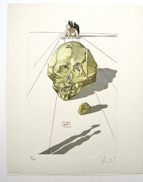 Salvador DALI; Original Woodcut - Signed And Numbere