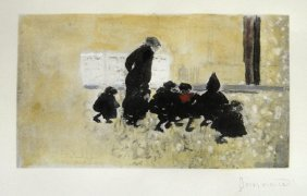 PIERRE BONNARD, Hand Colored And Hand Signed Lithog