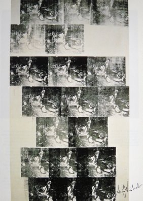 ANDY WARHOL, Signed Print, Car Crash