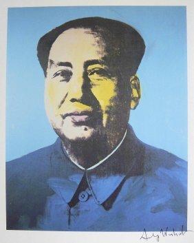 ANDY WARHOL, Signed Print, Mao Tse Tung