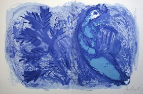 MARC CHAGALL, Hand Signed Lithograph, 1957