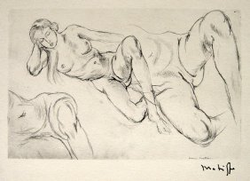 HENRI MATISSE, Hand Original Lithograph, Dessin, 19