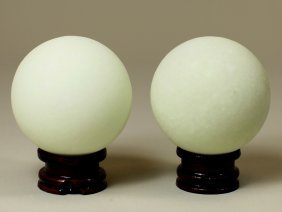 PAIR OF LUMINOUS BALLS
