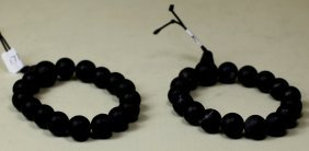 PAIR OF BIAN STONE BRACELETS