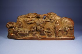 Chinese Antique Hwang Yang Wood Carving