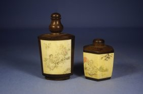 Pair Of Chinese Antique Snuff Bottles