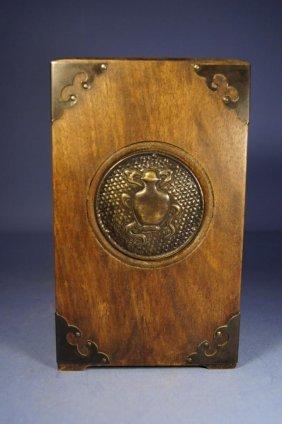 Chinese Antique Box Wood Brush Pot