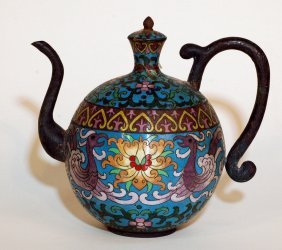 Chinese Cloisonne Wine Jar