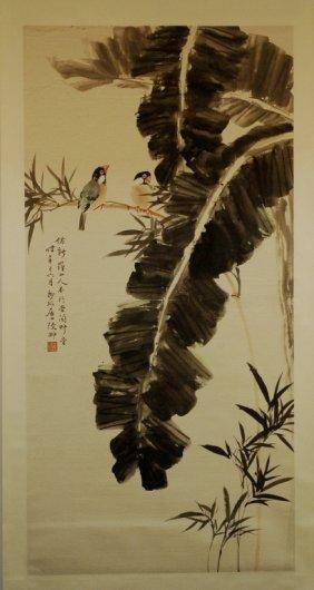 Chinese Scroll Painting - Banana Tree