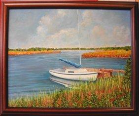 "JoAnn Corretti (20th-21st C.).  ""Orient, Long Island"