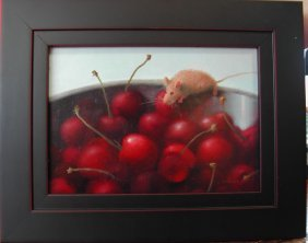 "Stuart Dunkel (20th-21st C.).  ""Cherry Hunter,"" Oil"