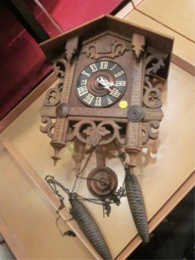 WOODEN CUCKOO CLOCK, MADE IN GERMANY