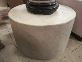 #2 OF TWO AVAILABLE BERNHARDT FAUX STONE COFFEE OR