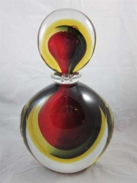 HUGE MURANO FORMIA SRL COLORFUL PERFUME BOTTLE BY D