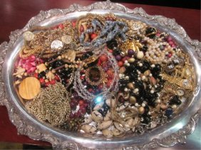 COSTUME JEWELRY, SOLD TOGETHER, TRAY NOT INCLUDED