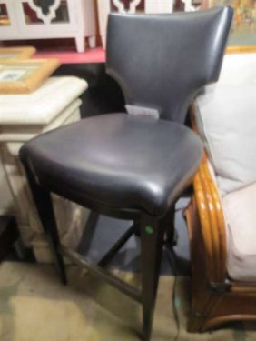 NEW NEVER USED DCOTA DESIGNER LEATHER BARSTOOL, SHI