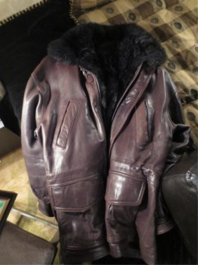 ANDREW MARC ADDITION LEATHER COAT WITH REMOVABLE FUR LI