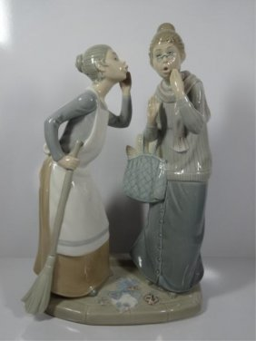 Retired Lladro Porcelain Figurine The Gossips 4984 Lot 51
