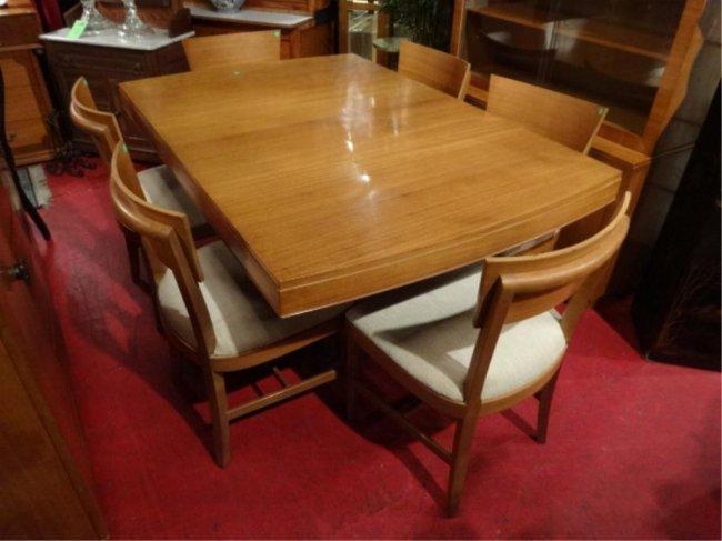 Eliel saarinen rway dining table with 6 chairs mid lot 94b for Eliel saarinen furniture