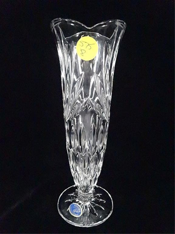 Bohemia 24 Lead Crystal Vase Made In Czech Republic