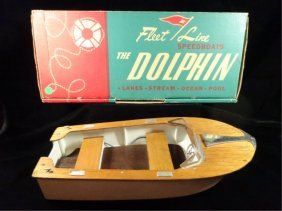 "Vintage 1950's Fleet Line ""dolphin"" Battery Powered"