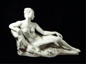 Rosenthal Germany Porcelain Reclining Nude Woman,