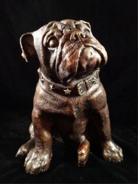 "Bronze Sculpture, Bulldog, Approx 11.5""h, Sku842.05"