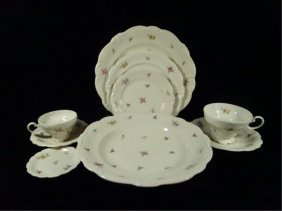 119 Pc Rosenthal Selb Bavaria Pompadour China Service,