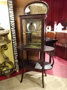 Art Nouveau Style Vitrine, Early 20th Century, With
