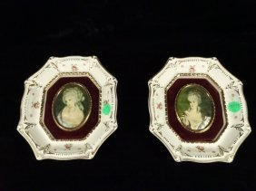 2 Vintage Mid Century Cameo Creations In Porcelain