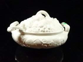 Gibson China Tureen With Lid & Ladle, Berry Design,