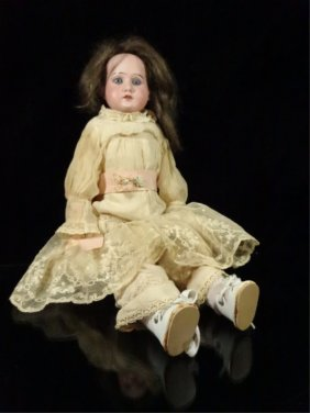 Armand Marseille Bisque Head Doll, #3700, Working Sleep