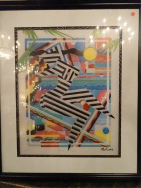 Marvin Murf Murphy Signed Lithograph, Abstract Female