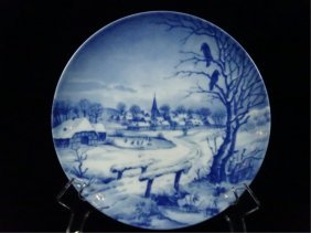 Christmas Plate 1972, Made In West Germany, Approx 7
