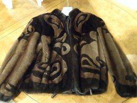 Custom Mink Jacket, Brown And Dark Mink, Size 6/8,
