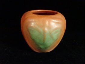 Van Briggle Art Pottery Butterfly Vase, Inscribed Van