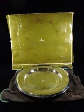 Christofle France Silverplate EntrÉe Or Chop Platter,